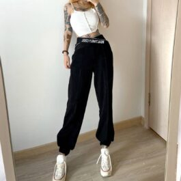 Relatively Cool Waist Ribbon Pants.1- Orezoria Aesthetic Outfits Shop - Aesthetic Clothing - eGirl Outfits - Soft Girl Outfits