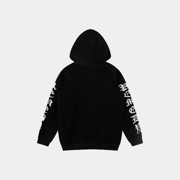 Remedy Gothic Font Sleeves Hoodie - Orezoria Aesthetic Outfits Shop - Aesthetic Clothing - eGirl Outfits - Soft Girl