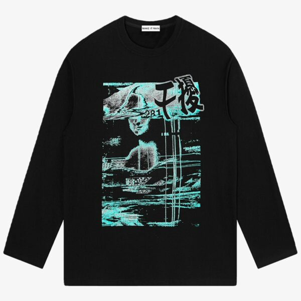 Retro Glitch Core Aesthetic Sweatshirt 1 - Orezoria Aesthetic Outfits Shop - Aesthetic Clothing - eGirl Outfits - Soft Girl Outfits