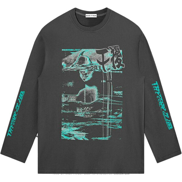 Retro Glitch Core Aesthetic Sweatshirt 3 - Orezoria Aesthetic Outfits Shop - Aesthetic Clothing - eGirl Outfits - Soft Girl Outfits