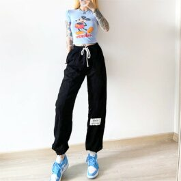 Retro Hong Kong Style Hip Hop Sweatpants 2- Orezoria Aesthetic Outfits Shop - Aesthetic Clothing - eGirl Outfits - Soft Girl Outfits