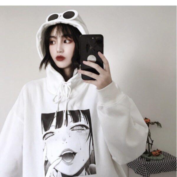 Rinnegan Eyes Anime Girl Hoodie - Orezoria Aesthetic Outfits Shop - Aesthetic Clothing - eGirl Outfits - Soft Girl Outfits.psd