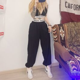 Romantic Surprise Ribbon Loose Pants 1- Orezoria Aesthetic Outfits Shop - Aesthetic Clothing - eGirl Outfits - Soft Girl Outfits
