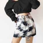 Rorshah Stains High Waist EGirl Skirt 1- Orezoria Aesthetic Outfits Shop - Aesthetic Clothing - eGirl Outfits - Soft Girl Outfits