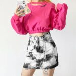 Rorshah Stains High Waist EGirl Skirt 2- Orezoria Aesthetic Outfits Shop - Aesthetic Clothing - eGirl Outfits - Soft Girl Outfits