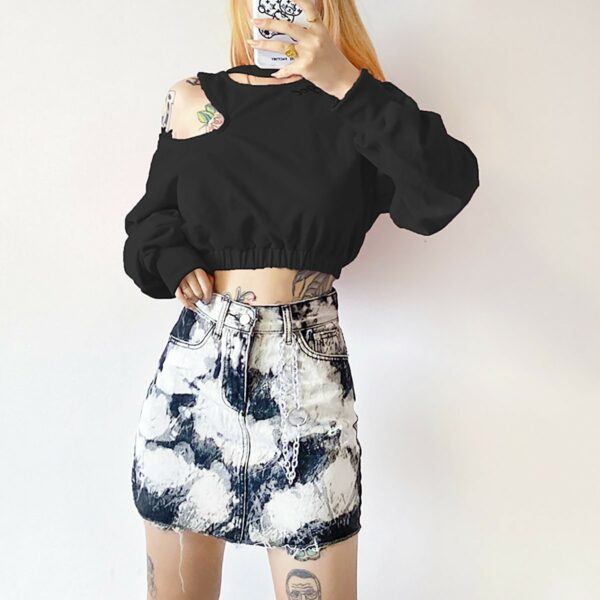 Rorshah Stains High Waist EGirl Skirt 3- Orezoria Aesthetic Outfits Shop - Aesthetic Clothing - eGirl Outfits - Soft Girl Outfits