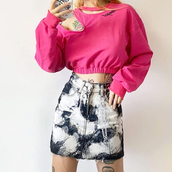 Rorshah Stains High Waist EGirl Skirt 4- Orezoria Aesthetic Outfits Shop - Aesthetic Clothing - eGirl Outfits - Soft Girl Outfits