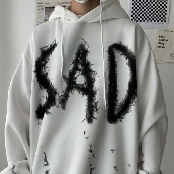 Sad Electric Core Aesthetic Hoodie - Orezoria Aesthetic Outfits Shop - Aesthetic Clothing - eGirl Outfits - Soft Girl Outfits.psd