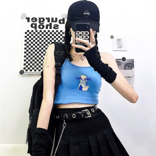 Sailor Moon Light Blue Crop Top 2- Orezoria Aesthetic Outfits Shop - Aesthetic Clothing - eGirl Outfits - Soft Girl Outfits