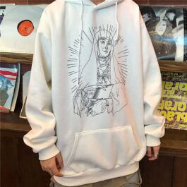 Saint Mother Mary Sketch Core Hoodie 2- Orezoria Aesthetic Outfits Shop - Aesthetic Clothing - eGirl Outfits - Soft Girl Outfits.psd