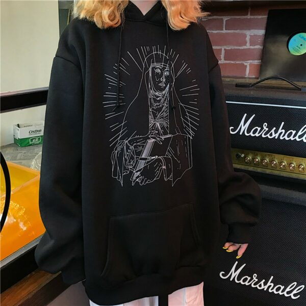 Saint Mother Mary Sketch Core Hoodie 3- Orezoria Aesthetic Outfits Shop - Aesthetic Clothing - eGirl Outfits - Soft Girl Outfits.psd