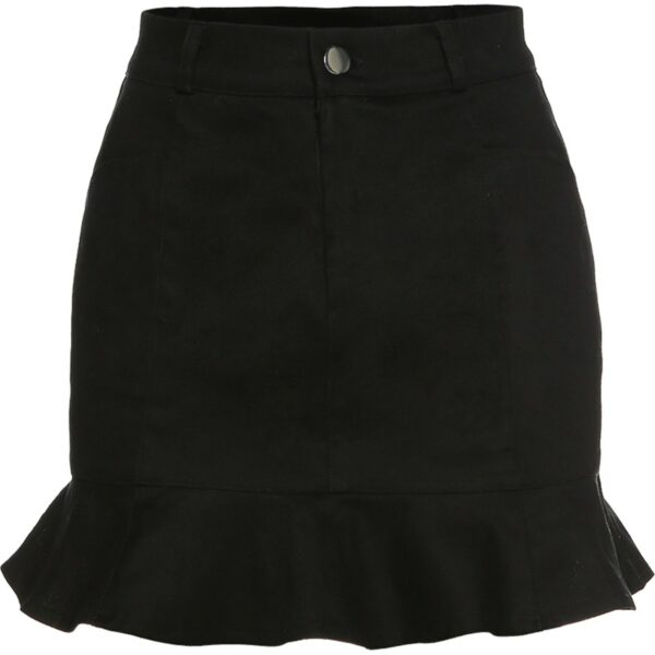 Short Lotus Leaf High Waist Skirt 4- Orezoria Aesthetic Outfits Shop - Aesthetic Clothing - eGirl Outfits - Soft Girl Outfits