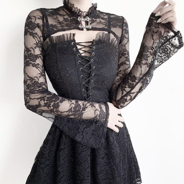 Shoulder Shawl Laced Gothic Aesthetic Top 2- Orezoria Aesthetic Outfits Shop - Aesthetic Clothing - eGirl Outfits - Soft Girl Outfits