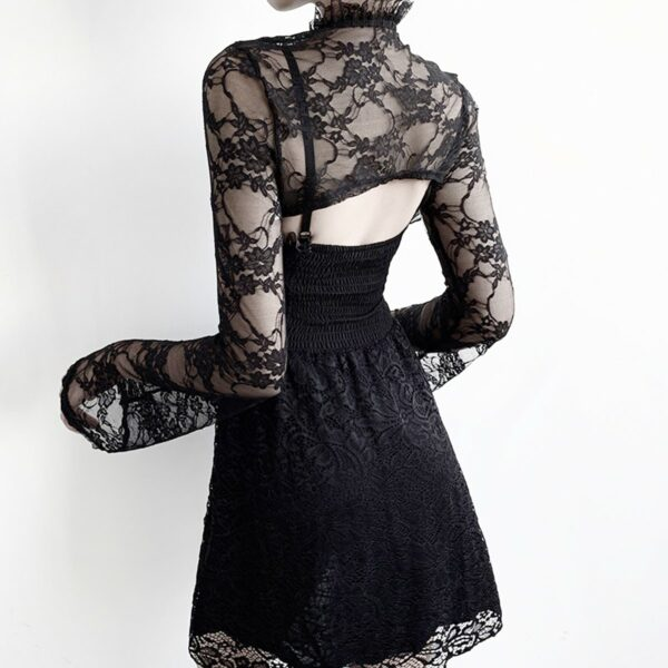 Shoulder Shawl Laced Gothic Aesthetic Top 3- Orezoria Aesthetic Outfits Shop - Aesthetic Clothing - eGirl Outfits - Soft Girl Outfits