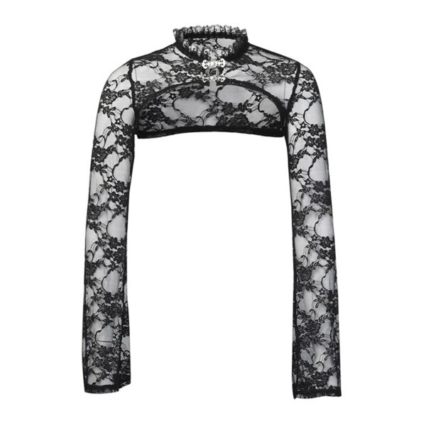 Shoulder Shawl Laced Gothic Aesthetic Top 4- Orezoria Aesthetic Outfits Shop - Aesthetic Clothing - eGirl Outfits - Soft Girl Outfits
