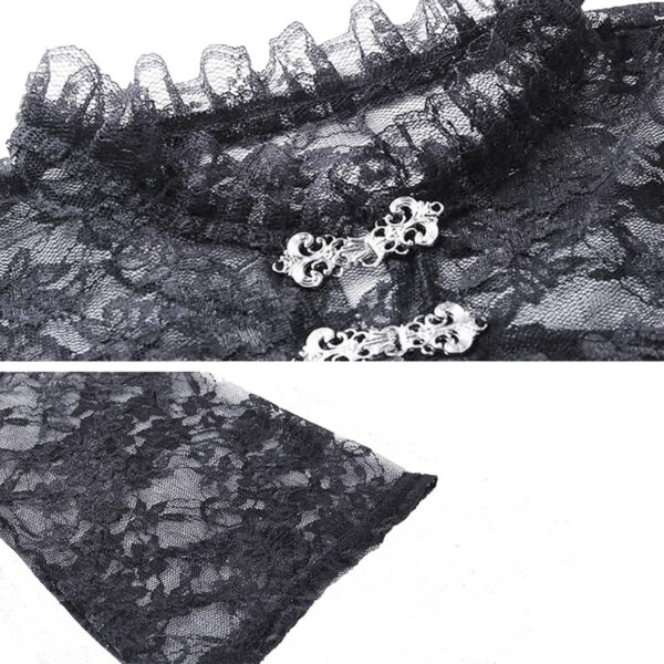 Shoulder Shawl Laced Gothic Aesthetic Top 5- Orezoria Aesthetic Outfits Shop - Aesthetic Clothing - eGirl Outfits - Soft Girl Outfits