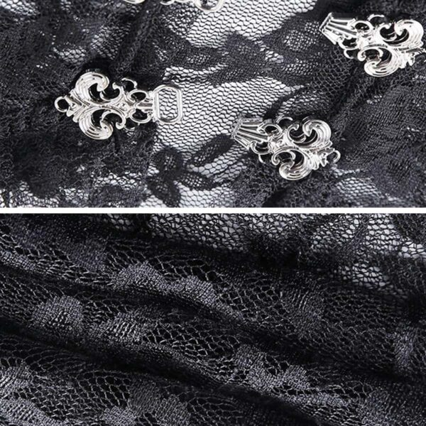 Shoulder Shawl Laced Gothic Aesthetic Top 6- Orezoria Aesthetic Outfits Shop - Aesthetic Clothing - eGirl Outfits - Soft Girl Outfits