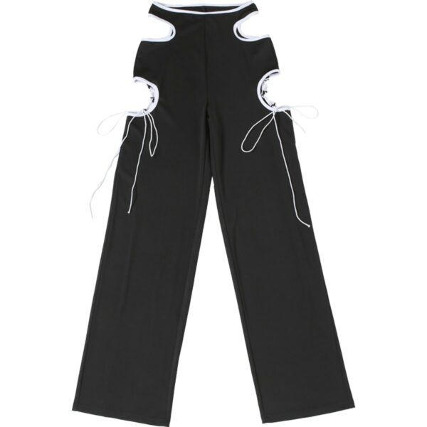 Side Cuts Lined High Waist Pants 4- Orezoria Aesthetic Outfits Shop - Aesthetic Clothing - eGirl Outfits - Soft Girl Outfits