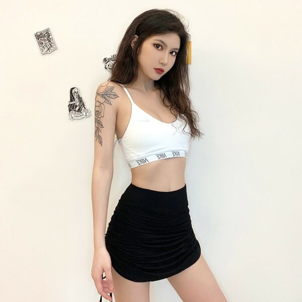 Side Lace Black High Waist Skirt 2- Orezoria Aesthetic Outfits Shop - Aesthetic Clothing - eGirl Outfits - Soft Girl Outfits