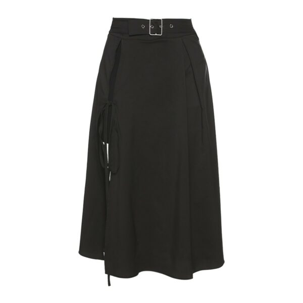 Side Split Long High Waist Black Skirt 4- Orezoria Aesthetic Outfits Shop - Aesthetic Clothing - eGirl Outfits - Soft Girl Outfits