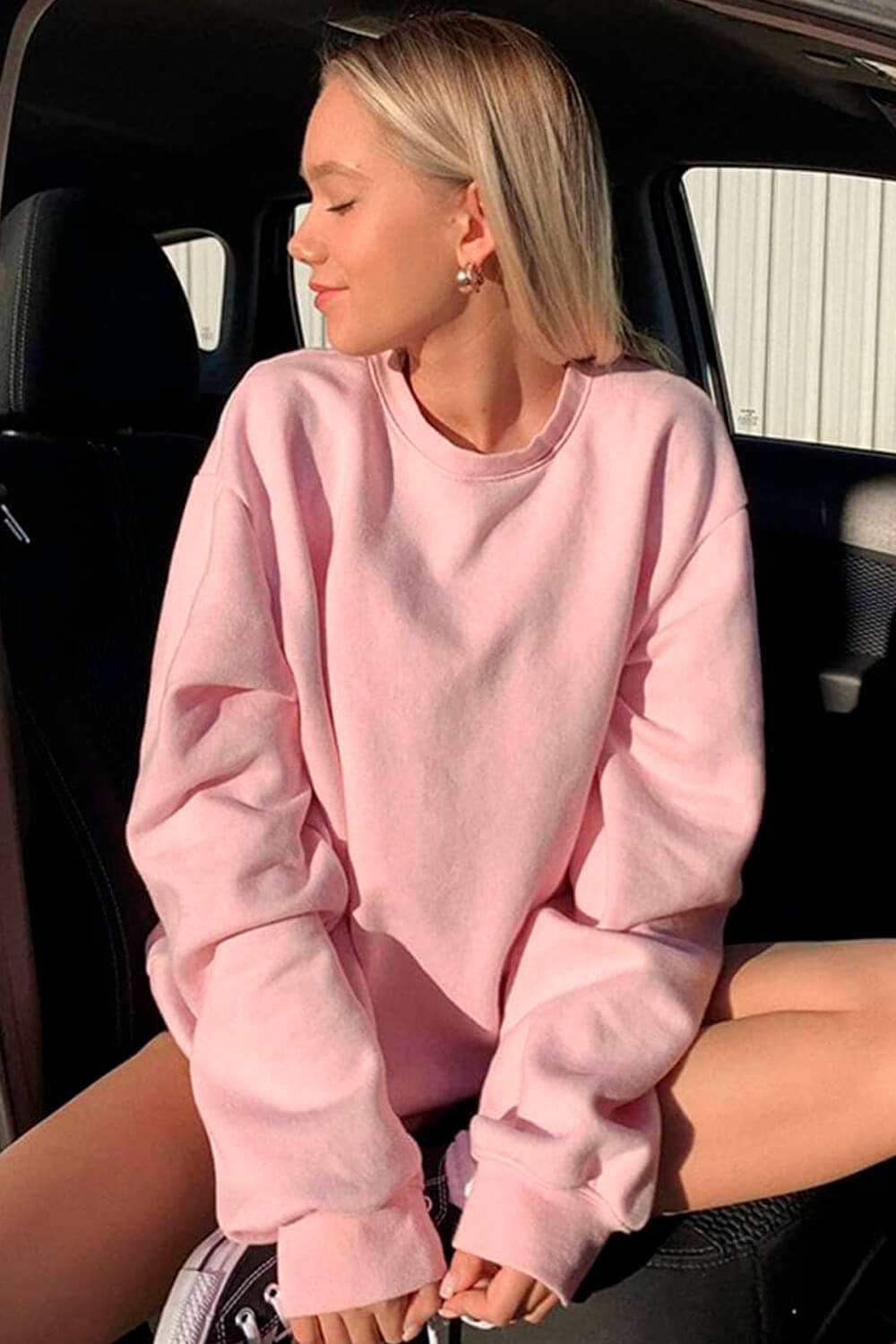Simple Blank Loose Lazy Pullover