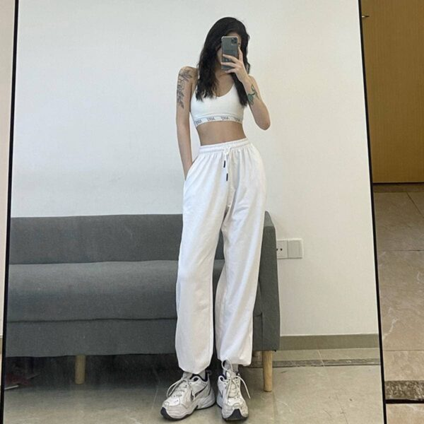Simple Blank Workout Loose Dance Pants.1- Orezoria Aesthetic Outfits Shop - Aesthetic Clothing - eGirl Outfits - Soft Girl Outfits