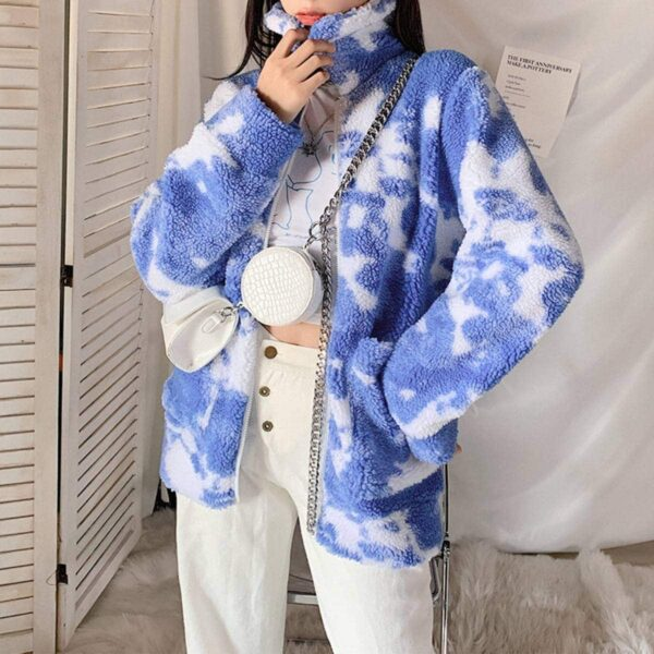 Sky Clouds Plush Fluffy Coat.1- Orezoria Aesthetic Outfits Shop - Aesthetic Clothing - eGirl Outfits - Soft Girl Outfits