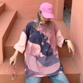 Sky Whale Pastel Oversized T-Shirt 1 - Orezoria Aesthetic Outfits Shop - Aesthetic Clothing - eGirl Outfits - Soft Girl Outfits