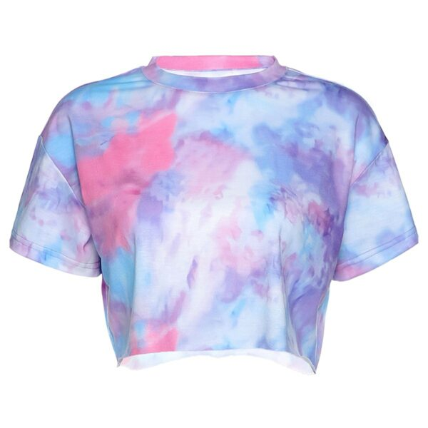 Soft Cloudy Pink Tie Dye Crop Top 4- Orezoria Aesthetic Outfits Shop - Aesthetic Clothing - eGirl Outfits - Soft Girl Outfits