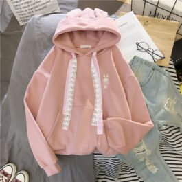 Soft Girl Cute Hoodie Bunny Embroidery 1 - Orezoria Aesthetic Outfits Shop - Aesthetic Clothing - eGirl Outfits - Soft Girl Outfits.psd