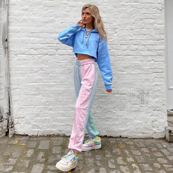 Soft Girl Pastel Pants High Waisted - Orezoria Aesthetic Outfits Shop - Aesthetic Clothing - eGirl Outfits - Soft Girl Outfits.psd