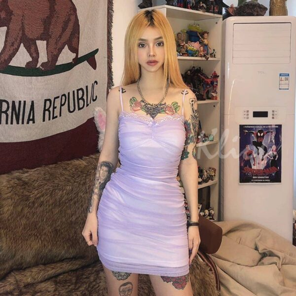 Soft Pink Edge Laced Short Dress 1 - Orezoria Aesthetic Outfits Shop - Aesthetic Clothing - eGirl Outfits - Soft Girl Outfits.psd