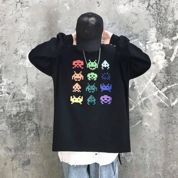 Space Invaders Retro Game Sweatshirt 4- Orezoria Aesthetic Outfits Shop - Aesthetic Clothing - eGirl Outfits - Soft Girl Outfits