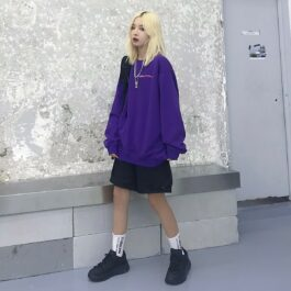 Spacecraft Moon Core Print Sweatshirt 1 - Orezoria Aesthetic Outfits Shop - Aesthetic Clothing - eGirl Outfits - Soft Girl Outfits