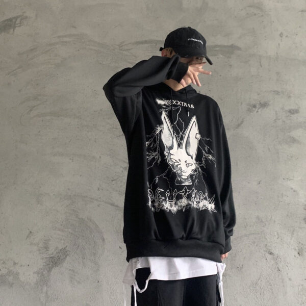 Sphynx Cat Anime Aesthetic Hoodie.1- Orezoria Aesthetic Outfits Shop - Aesthetic Clothing - eGirl Outfits - Soft Girl Outfits
