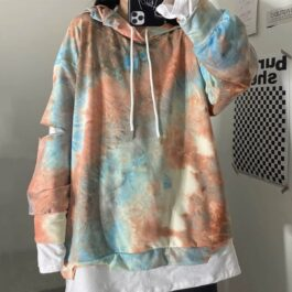 Spit Sleeve Half Tie Dye Long Sleeve - Orezoria Aesthetic Outfits Shop - Aesthetic Clothing - eGirl Outfits - Soft Girl Outfits.psd