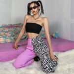 Split Color Pink Zebra Baddie Pants 4 - Orezoria Aesthetic Outfits Shop - Aesthetic Clothing - eGirl Outfits - Soft Girl Outfits.psd