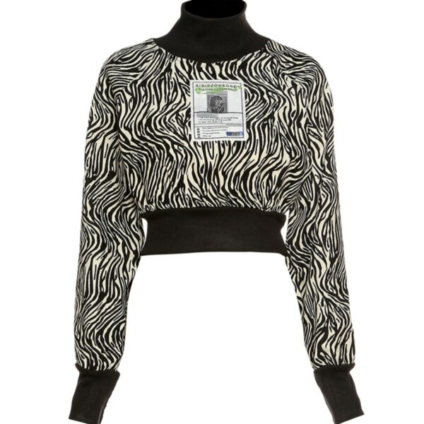 Sprawling Psychedelic Zebra Top 1- Orezoria Aesthetic Outfits Shop - Aesthetic Clothing - eGirl Outfits - Soft Girl Outfits