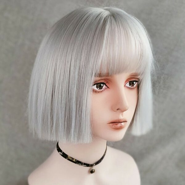 Straight Bob Colored Hair EGirl Wig 1- Orezoria Aesthetic Outfits Shop - Aesthetic Clothing - eGirl Outfits - Soft Girl Outfits (3)