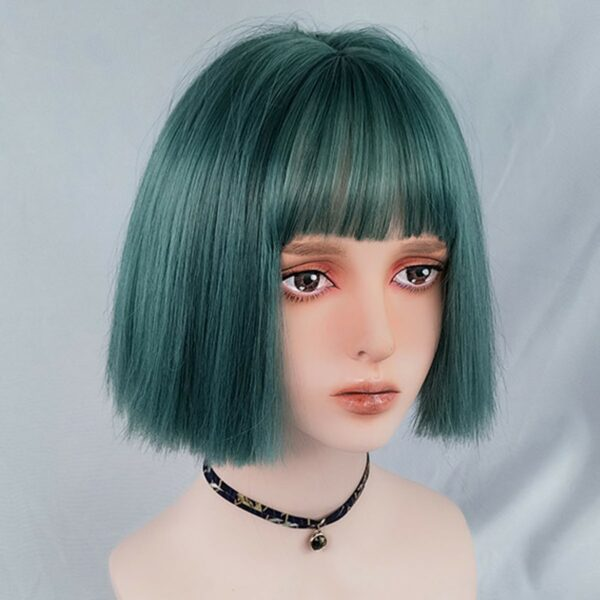 Straight Bob Colored Hair EGirl Wig 1- Orezoria Aesthetic Outfits Shop - Aesthetic Clothing - eGirl Outfits - Soft Girl Outfits (5)
