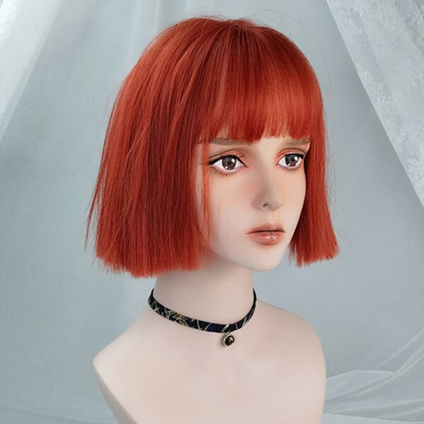 Straight Bob Colored Hair EGirl Wig 1- Orezoria Aesthetic Outfits Shop - Aesthetic Clothing - eGirl Outfits - Soft Girl Outfits (6)