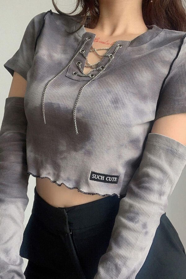 Such Cute Smokey Tie Dye Crop Top - Orezoria Aesthetic Outfits Shop - Aesthetic Clothing - eGirl Outfits - Soft Girl Outfits.psd
