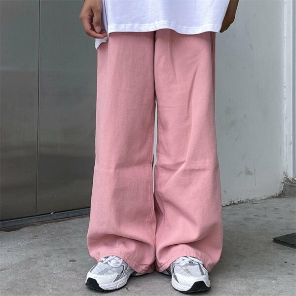 Super Loose Denim Mopping Pants - Orezoria Aesthetic Outfits Shop - Aesthetic Clothing - eGirl Outfits - Soft Girl Outfits.psd