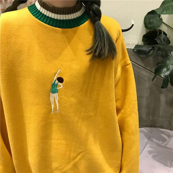 Swimmer Girl Embroidery Sweatshirt 3- Orezoria Aesthetic Outfits Shop - Aesthetic Clothing - eGirl Outfits - Soft Girl Outfits.psd