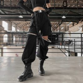 Techwear Cargo Pants Detachable Knees 2- Orezoria Aesthetic Outfits Shop - Aesthetic Clothing - eGirl Outfits - Soft Girl Outfits