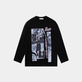 The Clash Grunge Aesthetic Long Sleeve.1- Orezoria Aesthetic Outfits Shop - Aesthetic Clothing - eGirl Outfits - Soft Girl Outfits