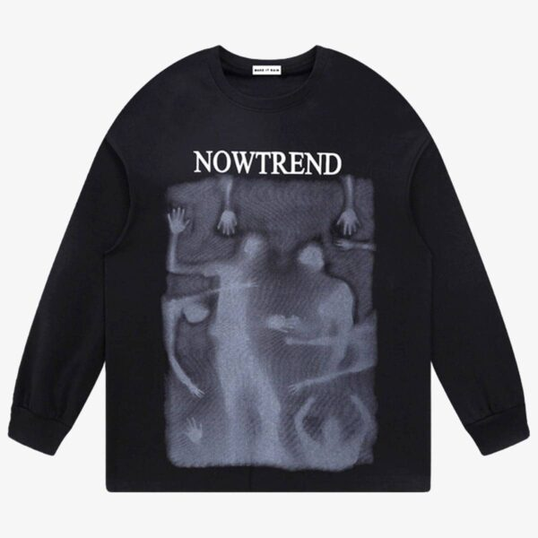 The Mist Abstract Dark Silhouette Sweatshirt 1 - Orezoria Aesthetic Outfits Shop - Aesthetic Clothing - eGirl Outfits - Soft Girl Outfits