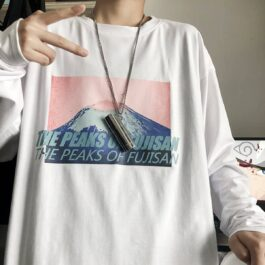 The Peaks of Fujisan Long Sleeve 1- Orezoria Aesthetic Outfits Shop - Aesthetic Clothing - eGirl Outfits - Soft Girl Outfits