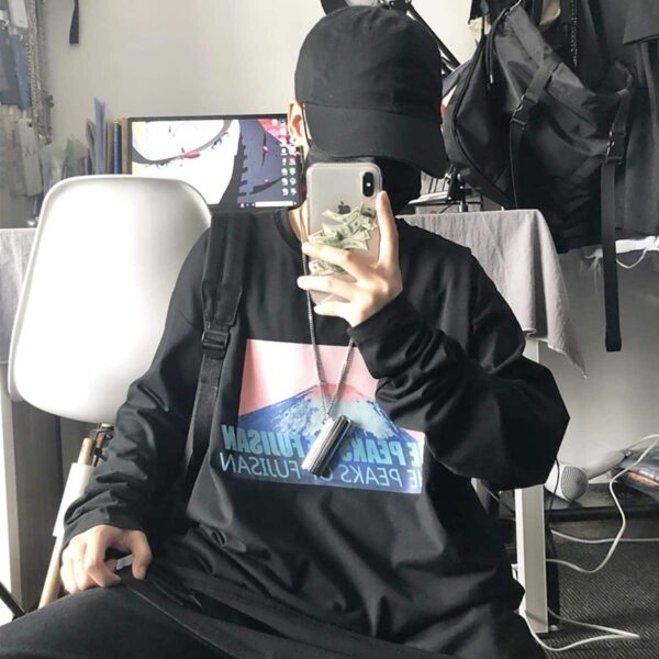 The Peaks of Fujisan Long Sleeve 4- Orezoria Aesthetic Outfits Shop - Aesthetic Clothing - eGirl Outfits - Soft Girl Outfits