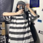 Thick Striped Oversized T-Shirt 1 - Orezoria Aesthetic Outfits Shop - Aesthetic Clothing - eGirl Outfits - Soft Girl Outfits.psd
